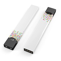 Skin Decal Kit for the Pax JUUL - Descending Multicolor Micro Dots