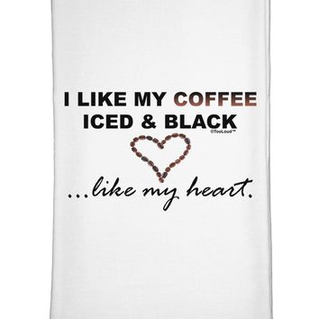 Coffee Iced and Black Flour Sack Dish Towel