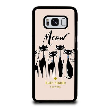 KATE SPADE MEOW CAT Samsung Galaxy S3 S4 S5 S6 S7 S8 Edge Plus Note 3 4 5 8 Case