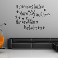 Dumbledore Quote Harry Potter Vinyl Wall Decal Choices Sticker Home Decor  Vinyl Removable Letters (248)