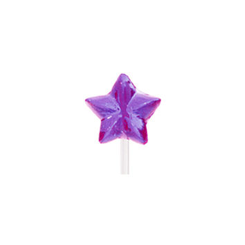 Twinkle Candy Star Lollipops - Purple: 120-Piece Bag