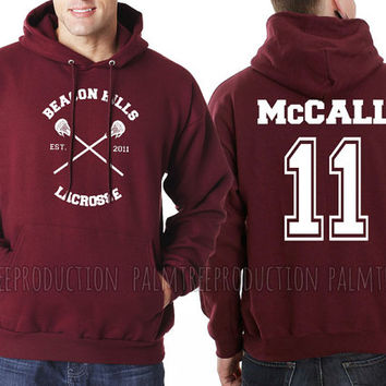 McCALL 11 CROSS Beacon Hills Lacrosse Teen Wolf Unisex Hoodie S to 3XL Scot McCall