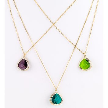 Glass Droplet Necklace