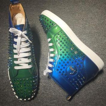 Christian Louboutin CL Louis Spikes Style #1855 Sneakers Fashion Shoes Best Deal Online