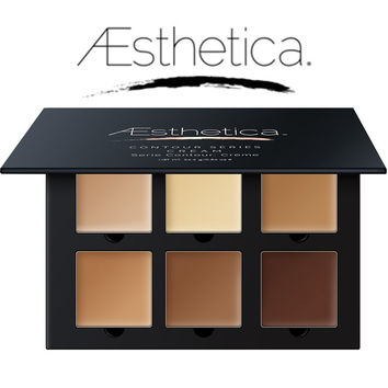 Aesthetica Cosmetics Cream Contour and Highlighting Concealer Makeup Kit beverly hills