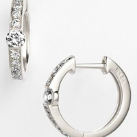 Women's Bony Levy 'Linea' Small Diamond Hoop Earrings (Nordstrom Exclusive)