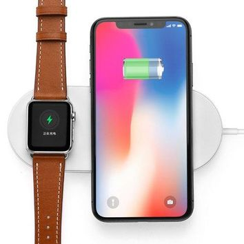 Wireless Charger Portable Charger Birthday Gifts For Men By LUD | Fast Charging Station Certified Safe Phone Bluetooth Watch Charger