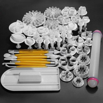 46Pcs Cake Decorating Flower Mold Fondant Cake Decorating Painting Tool DIY Baking Pastry Sugar Cookie Cooking Kitchen Mould