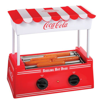 Nostalgia HDR565COKE Limited Edition Coca-Cola Hot Dog Roller with Bun Warmer