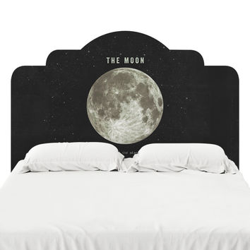 The Earth's Moon Headboard Decal