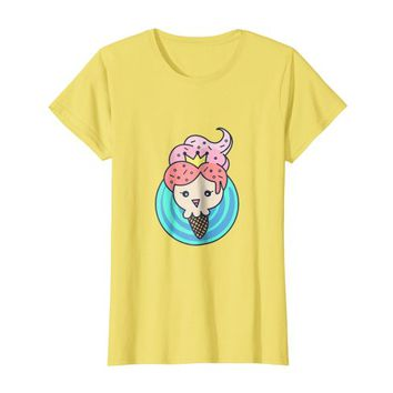 Funny ice cream tshirt soft serve character for girls gifts