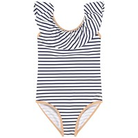Chloe Girls Navy and White Striped Swimsuit