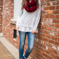 The Ballerina Sweater, Gray