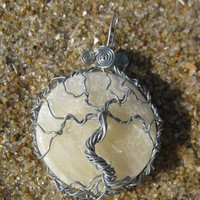 Soapstone Moon Tree of Life Pendant with Personalized Back