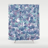Floral Water Shower Curtain by Kat Mun