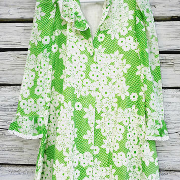 Green hawaiian dress, 60s hawaiian dress, Vintage sun dresses, Vintage hawaiian mini dress, Tropical dress, Vintage flower girl dresses