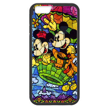 Disney Mickey & Minnie Mouse Stained Glass Iphone 6 (4.7-inch) TPU Bumper Case