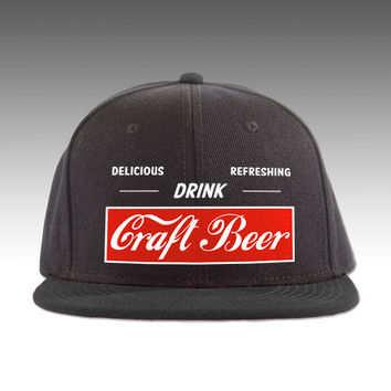 Drink Delicious Refreshing Craft Beer Hat