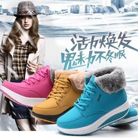 2017 New Women's Outdoor Ankle Snow Boots Casual Warm Winter Boots Increase Shoes