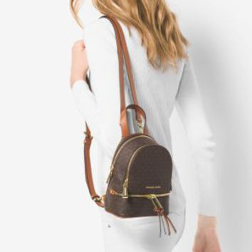 Rhea Extra-Small Logo Backpack | Michael Kors