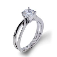 Arthurs Collection Simple Solitaire Diamond Engagement Rings