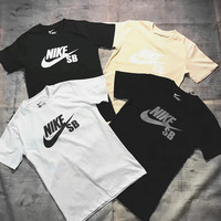 """Nike"" Print Casual Sport Short Sleeve Shirt Top Tee Blouse G-A-GHSY-1"