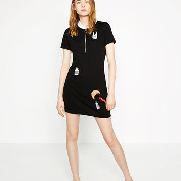 EMBROIDERED PATCH DRESS - DRESSES-TRF | ZARA Canada