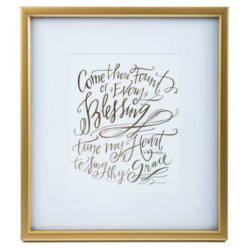 Come Thou Fount Framed Wall Art | Hobby Lobby | 274944