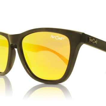 Black Polarized Orange Lens
