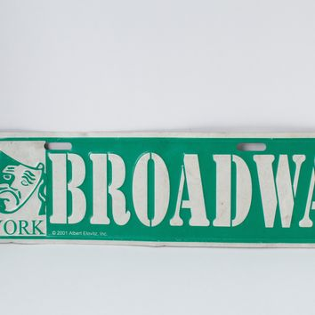 Broadway Roadsign Novelty Gift