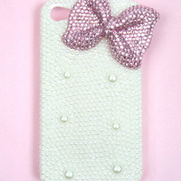 iPhone 4 Cute Pink Phone Case with Bow : Aprons - Dresses - Betsey Johnson Handbags - Mindy Weiss Wedding - Daisy Shoppe
