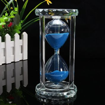30 Minutes Sandglass Kitchen Timer Crystal Hourglass Craft Gift Ornament Home Decor