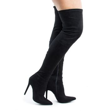 Gisele7 By Liliana, Over Knee Pointy Toe Stiletto Heel Dress Boots
