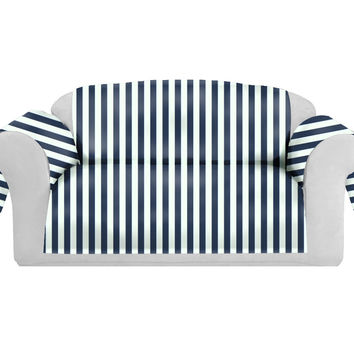 StripSpring Decorative Sofa / Couch Covers Collection Navy-White.