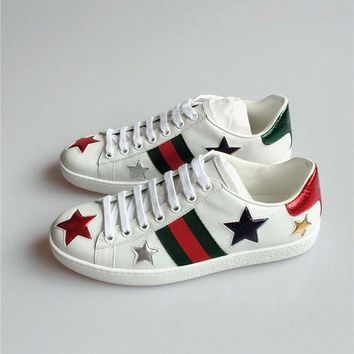Gucci Ace Snake Embroidered White Low-top Sneaker I
