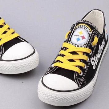 Pittsburgh Steelers Custom Canvas Shoes