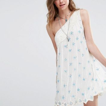 Free People Sequin Dress With One Shoulder at asos.com