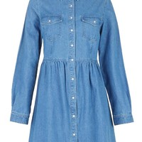 Long Sleeve Denim Shirt Dress | Boohoo