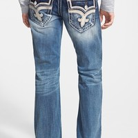Men's Rock Revival Straight Leg Jeans (Teo)