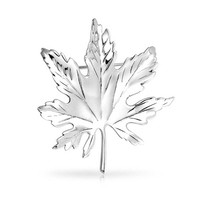Bling Jewelry Silver Maple Pin