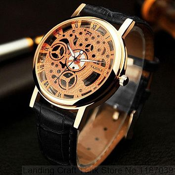 Skeleton Dress Quartz Watch Women Watches Ladies Famous Brand Wrist Watch Female Clock
