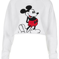 Mickey Crop Sweat - Bralets & Cropped Tops - Jersey Tops  - Clothing