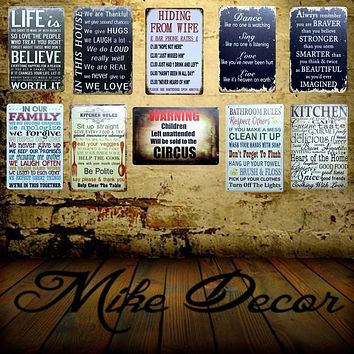 [ Mike86 ] Make THINGS Happen Quote Mural Painting Retro Shoe Store Vintage Posters Metal Sign Decor 20X30 CM FG-1