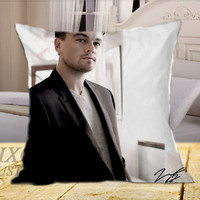 Leonardo DiCaprio on Square Pillow Cover