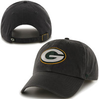 '47 Brand Green Bay Packers Charcoal Cleanup Adjustable Hat