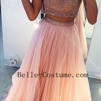 Prom Dresses, Two Piece Prom Dresses 2016, Two Piece Evening Dresses Party Dresses