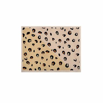 """AFE Images """"AFE Animal Print"""" Yellow Gold Animal Print Abstract Digital Illustration KESS Naturals Canvas (Frame not Included)"""