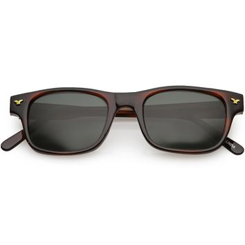 True Vintage Indie Dapper Horned Rim Sunglasses C678