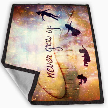Peter Pan Quote Blanket for Kids Blanket, Fleece Blanket Cute and Awesome Blanket for your bedding, Blanket fleece **