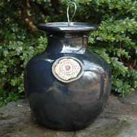 Glazed Down Under Pots - GUNMETAL BLACK DOWN UNDER POT